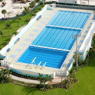 University Dania olympic pool construction